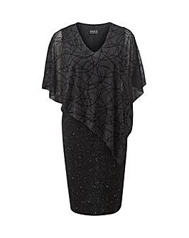 Grace overlay glitter midi dress