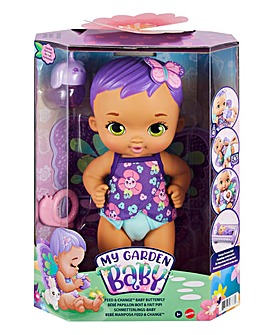 My Garden Baby Feed & Change Baby Butterfly Doll Purple