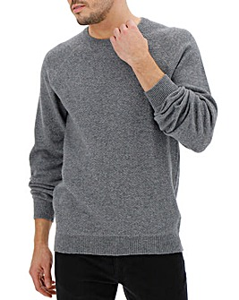Crew Neck Wool Jumper Long