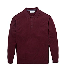 W&B Mulberry Wool Mix Polo Neck Jumper Regular