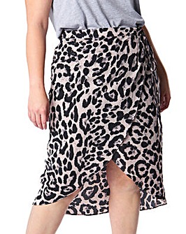Koko Leopard Print Wrap Skirt