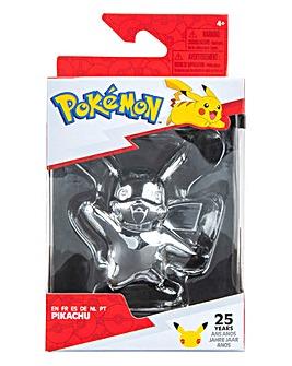 Pokemon 3inch Battle Figure Silver Pikachu