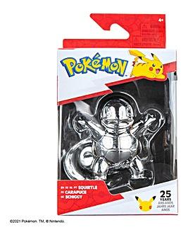 Pokemon 3inch Battle Figure Silver Squirtle