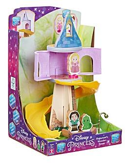 Disney Princess Wooden Rapunzel's Tower & Figure Playset