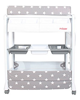 My Babiie Grey Stars Baby Bath and Changing Unit