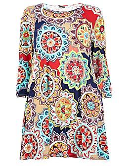 Izabel London Curve Abstract Tunic Dress
