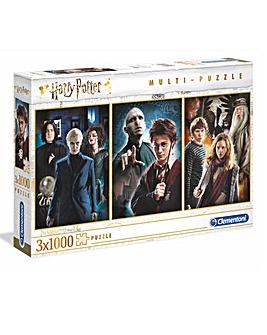 Clementoni 3 x 1000pc Collectors Puzzle - Harry Potter