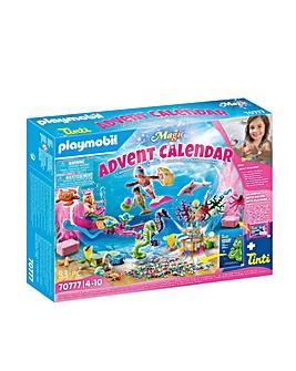 Playmobil 70777 Magical Mermaids Advent Calendar with Colour-Chaning Bubble Bath