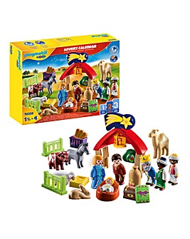 Playmobil 1.2.3 70259 Christmas Manger Advent Calendar For 18+ Months