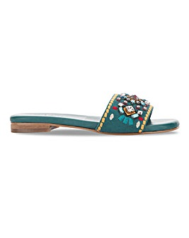 Beaded Mule Sandals Extra Wide EEE Fit