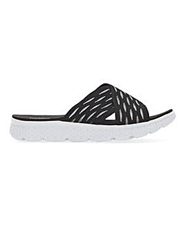 Cushion Walk Crossover Leisure Mule Sandals Wide E Fit