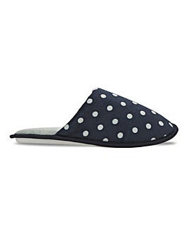 Spot Print Mule Slippers Wide E Fit