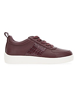 Lace Trainer with Croc Insert Extra Wide EEE Fit