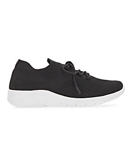 Fly Knit Lace Up Shoe Extra Wide EEE Fit