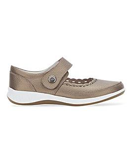 Heavenly Soles Leather Shoe Ultra Wide EEEEE Fit