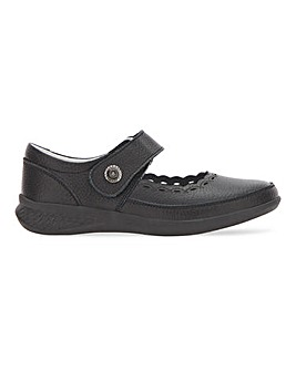 Heavenly Soles Leather Shoe Wide E Fit