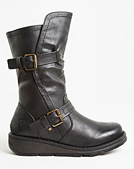 Heavenly Feet Double Buckle Boot Extra Wide EEE Fit