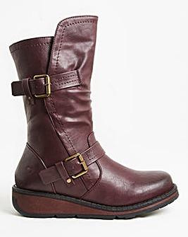 Heavenly Feet Double Buckle Boot Wide E Fit