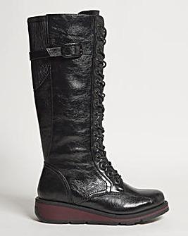 Heavenly Feet Knee High Boot Wide E Fit Curvy Calf