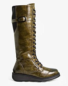 Heavenly Feet Knee High Boot Extra Wide EEE Fit Curvy Calf