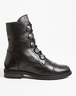Button Detail Boot Extra Wide EEE Fit