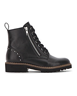 Lace Boot with Side Zip Detail Extra Wide EEE Fit