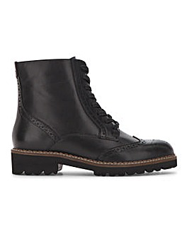 Brogue Lace Up Boot Extra Wide EEE Fit