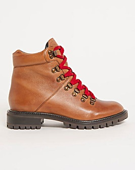 Leather Hiker Boot Wide E Fit