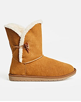 Warm Lined Boot Wide E Fit