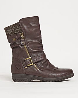 Cushion Walk Double Buckle Boot Wide E fit