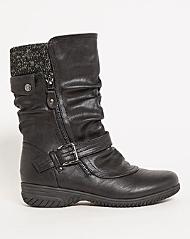 Cushion Walk Double Buckle Boot Extra Wide EEE fit