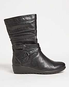 Cushion Walk Rouched Boot Extra Wide EEE Fit