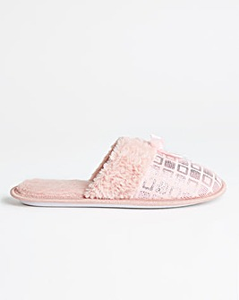 Bow Detail Slipper Extra Wide EEE Fit