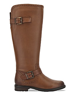 Trim Detail Riding Boot Extra Wide EEE Fit Curvy Calf