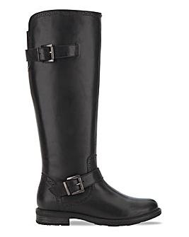 Trim Detail Riding Boot Wide E Fit Curvy Calf