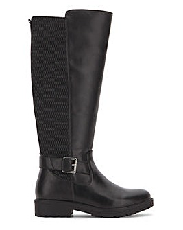 Knee High Boot with Stretch Panel Extra Wide EEE Fit Super Curvy Calf