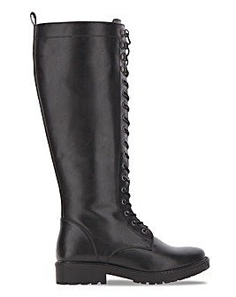 High Leg Lace Front Boot Extra Wide EEE Fit Super Curvy Calf