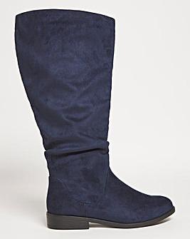 Microsuede High Leg Boots Wide E Fit Super Curvy Calf
