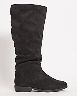 Microsuede High Leg Boots Extra Wide EEE Fit Standard Calf