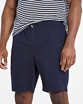 Navy Comfort Waist Chino Shorts