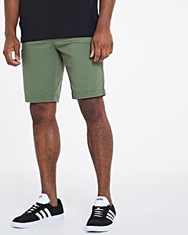 Khaki Comfort Waist Chino Shorts