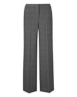 Petite Check Wide Leg Trousers