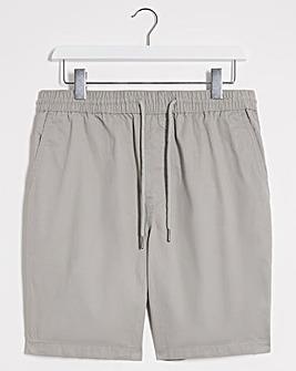 Light Grey Elasticated Waist Dock Shorts