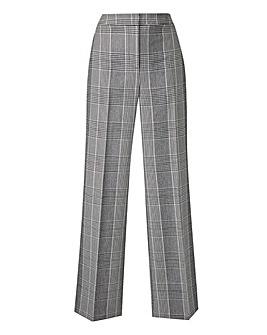 Petite MagiSculpt Check Wide Leg Trouser