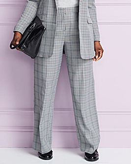 Houndstooth Wide Leg Trouser
