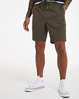 Lgt Khaki Elasticated Waist Dock Shorts