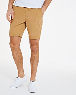 Tan Elasticated Waist Dock Shorts