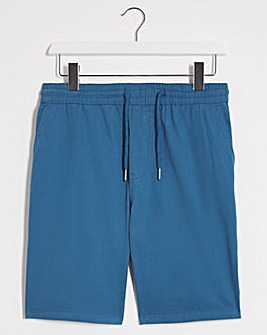 Blue Elasticated Waist Dock Shorts