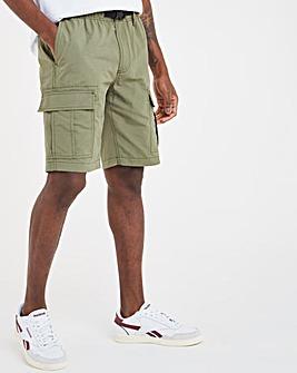 Khaki Belted Cargo Shorts