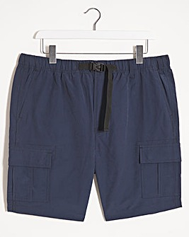 Navy Belted Cargo Shorts
